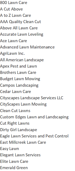 lawn services names